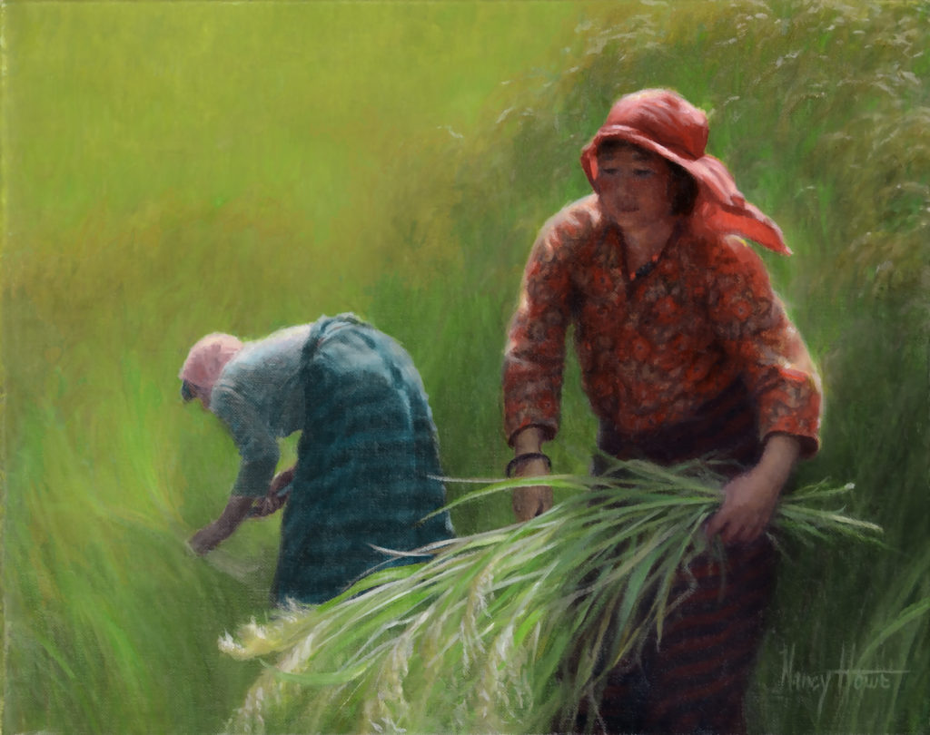 Bountiful • 2015 • 8 x 10 •   Oil on linen • Bhutan • Available Tilting at Windmills Gallery