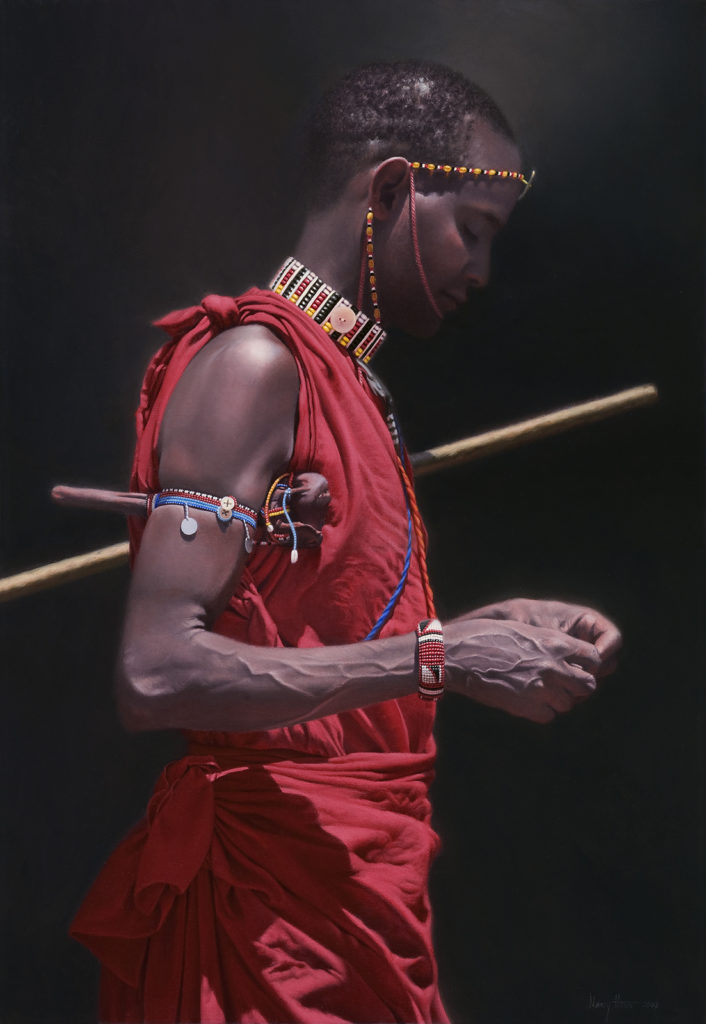 Holding All He Needs • 2008 • 28.5 x 20 • Oil on linen