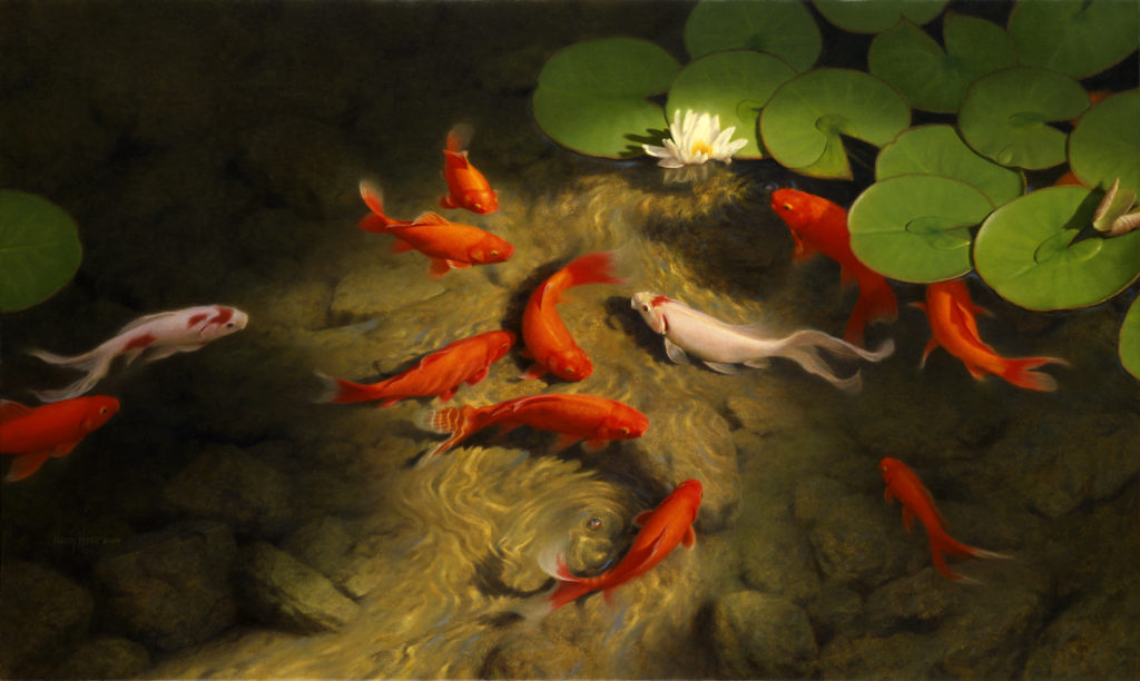 Surfacing • 2004 • 18 x 30 • Oil on linen